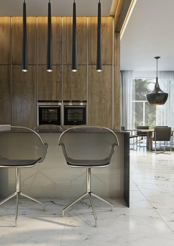 moderno minimalista led lamparas sillas
