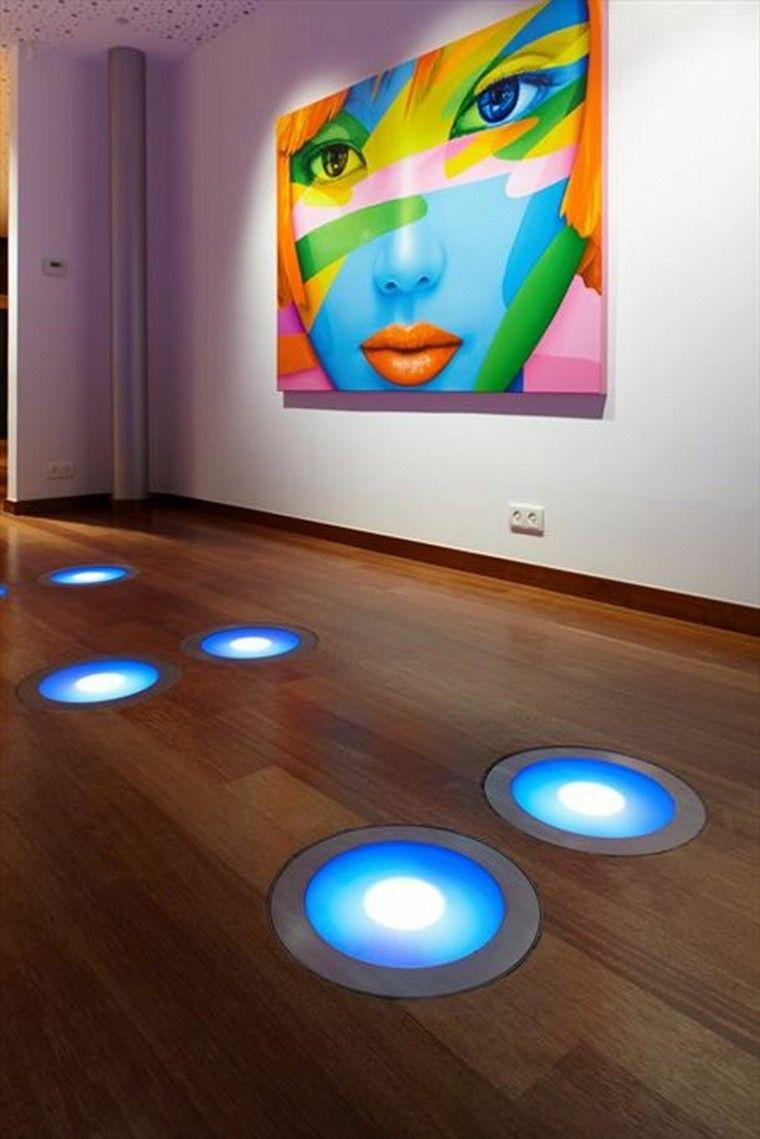suelo cuadro madera diseño circular
