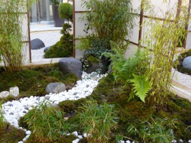 jardin patio interior estilo japones