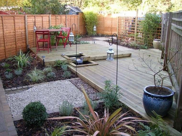 Decoraci n y dise os de jardines for Jardin pequeno moderno