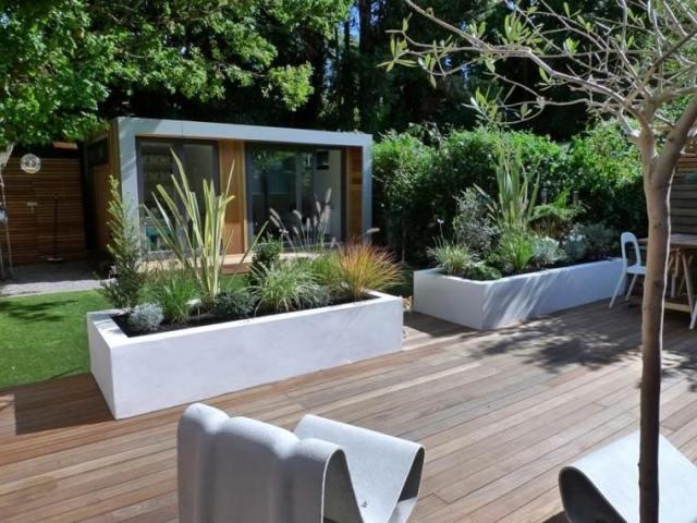 plataforma jardin madera teca muebles