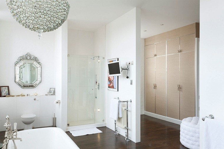 baño lampara colgante techo bola