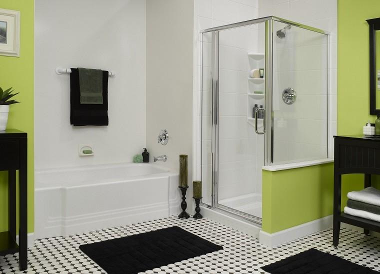 bonito diseño baño verde