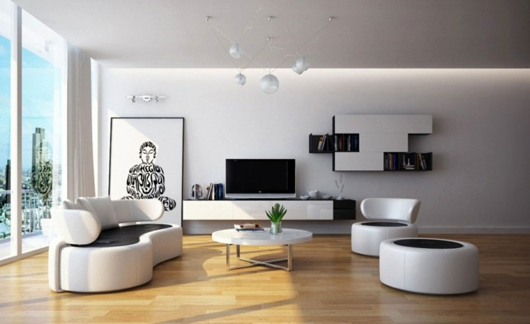 Decoracion Living Comedor Minimalista. sala de estar moderna de ...