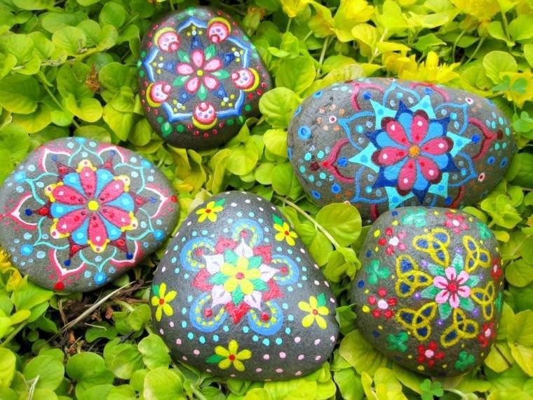 bonitos dibujos flores piedras rio
