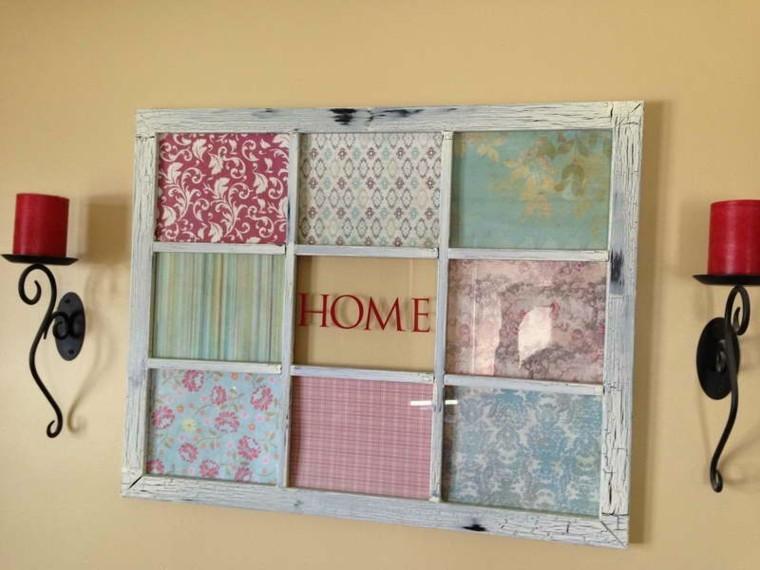 marco ventana tapices telas colores