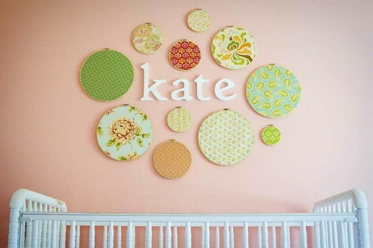 tapices pared nombre bebe kate