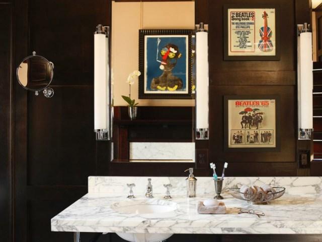 como decorar un baño pequeño y sencillo marrones marmol