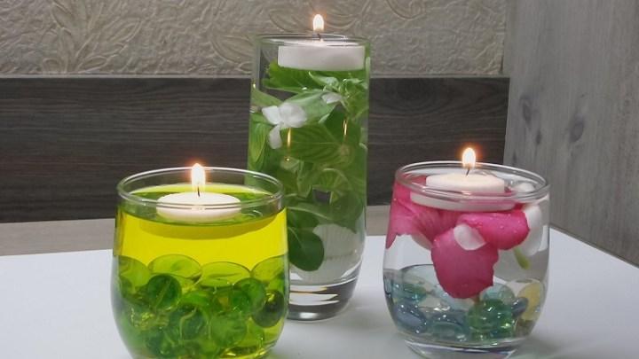 Como hacer velas flotantes
