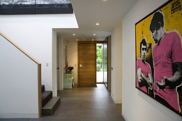 decoración moderna recibidor entrada
