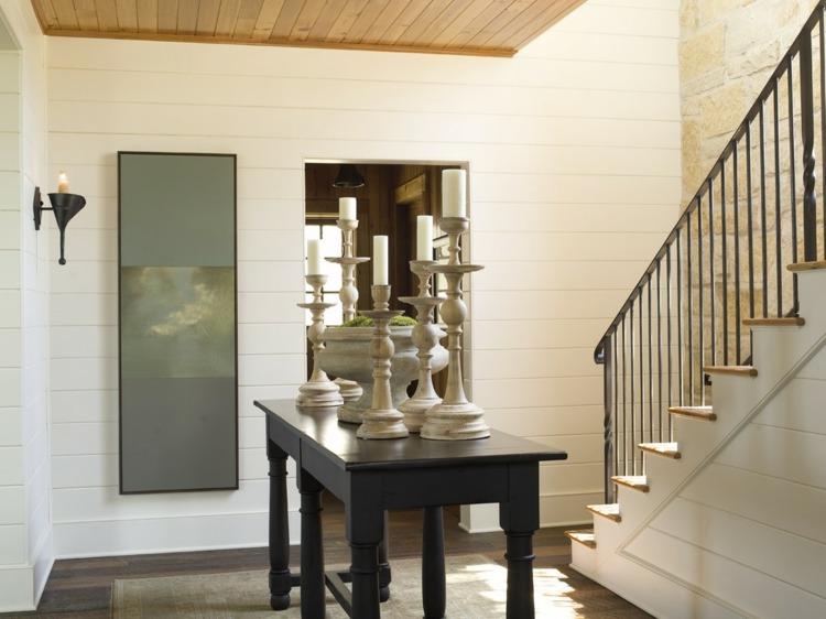 decoracion entrada diseño moderno mesa