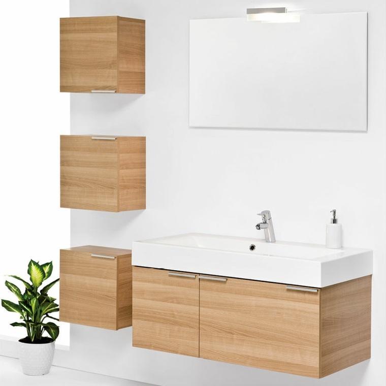 ideas de lavabos y armarios de baño Muebles De Madera Para Lavabo Modernos Armarios De Bano Y