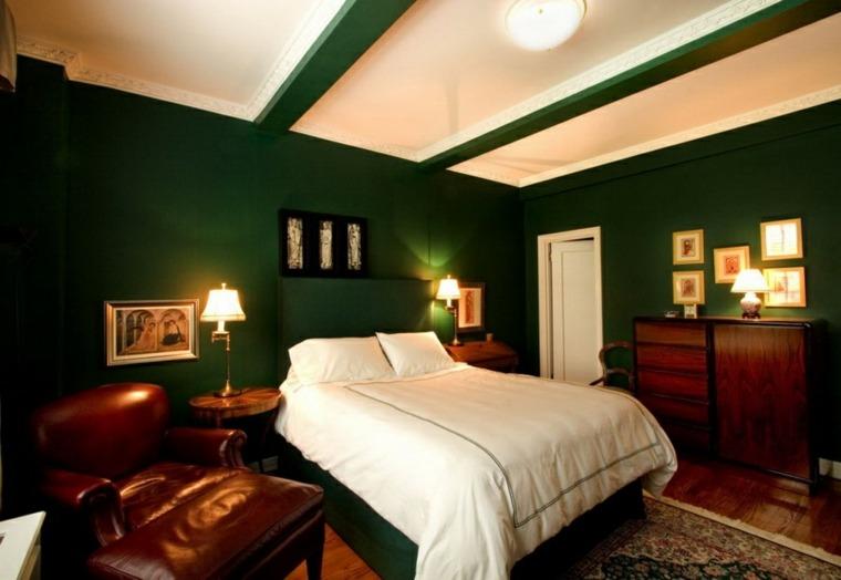 Color Verde Para La Decoracin De Interiores 25 Diseos