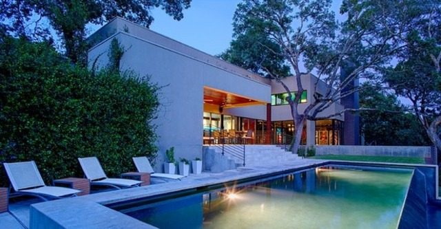 iluminacion exterior moderna jardin piscina jardin ideas