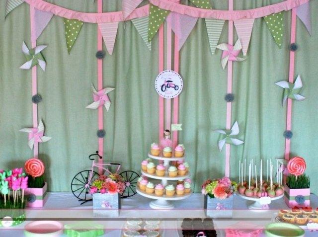 decorar fiesta bici rosa