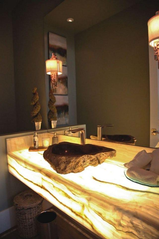 reformar bano iluminacion lavabo ideas brillantes espejo grande