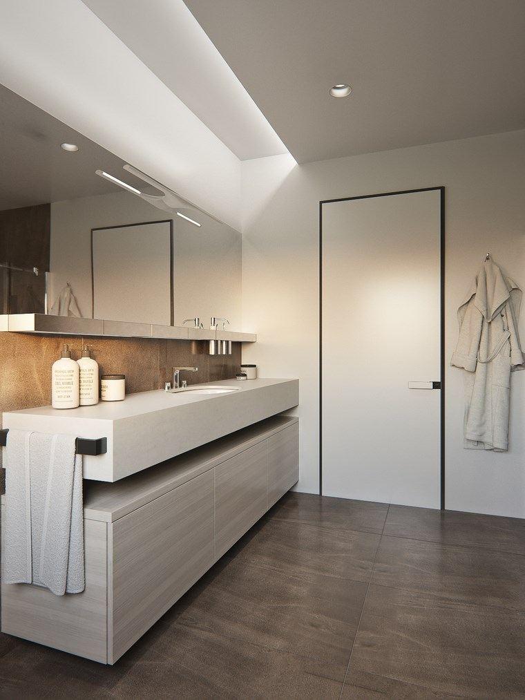 reformar bano iluminacion paredes blancas opciones ideas