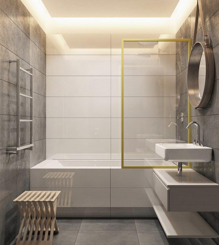 reformar bano iluminacion techo espacios estrechos ideas