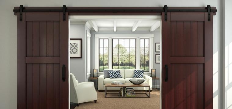 Puertas Corredizas De Estilo Granero Diseos Originales Para Interior