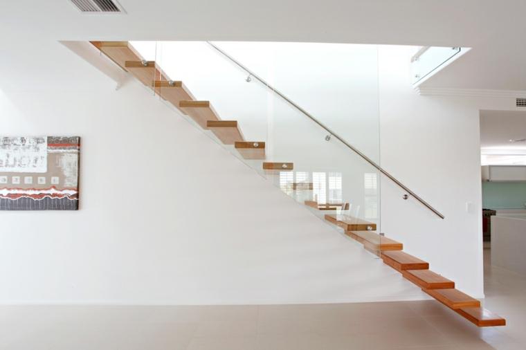 Escaleras Minimalistas Escalera Flotante 50 Dise Os Que No Te Puedes Perder Minimalista Moderna Transparente