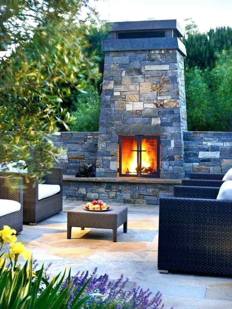 chimenea moderna para patios y jardines
