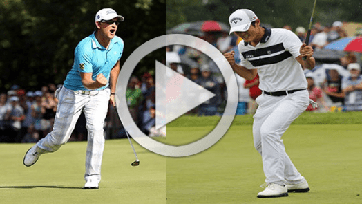 Danny Lee and Bernd Wiesberger golf swing with lag