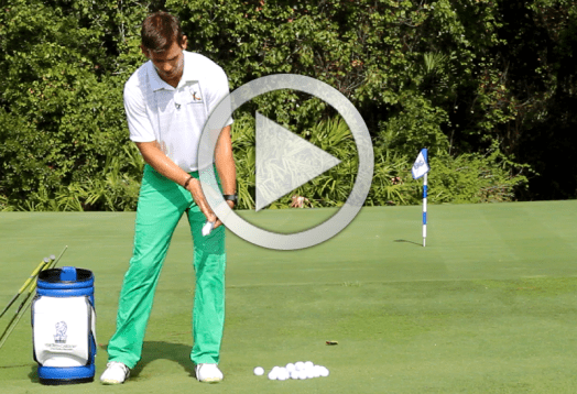 perfect golf impact