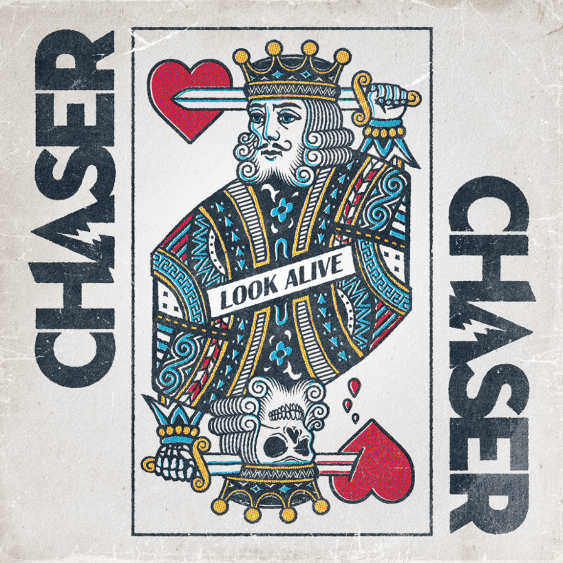 """CHASER 'Look Alive' 7"""" cover art"""