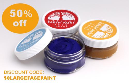 Large Face Paint Jars