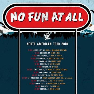 no fun at all north american tour fall 2018