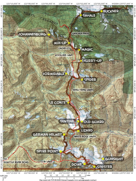 Map of Ptarmigan Traverse courtesy Steph Abegg