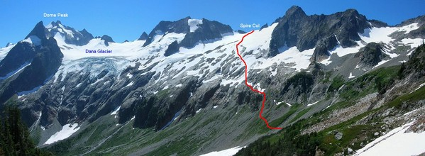 Traverse to Spire Col