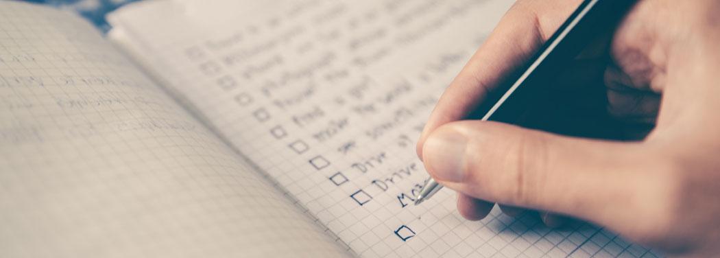 Book Writing Checklist