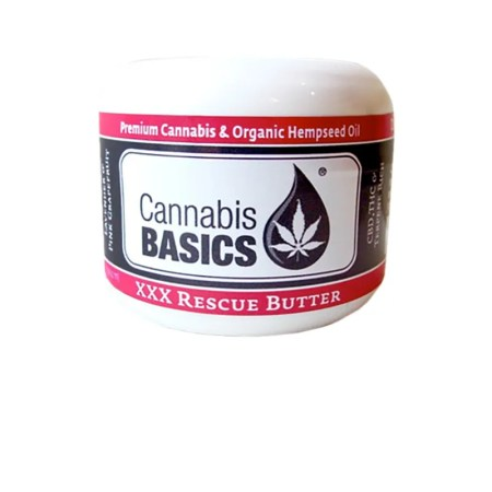 Jar of XXX Rescue Butter (CHABA) by Cannabis Basics
