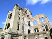 View from the south/southwest side of the Atomic Bomb Dome