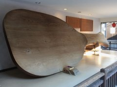 At 25 feet long, this is the world's largest rice scoop. Rice scoops or shamoji are one of Miyajima's famous products, often crafted from high-quality wood.