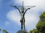 The statue of Sadako atop the Children's Peace Monument