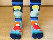 Mt. Fuji socks!