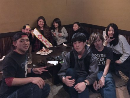 At the izakaya with last year's Section 5 crew.