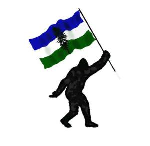 BigfootHoldingCascadianFlag
