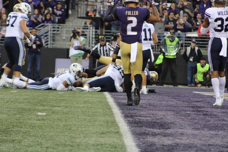 Fuller celebrates touchdown