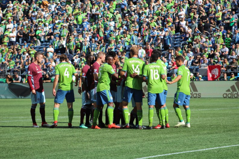 Scenes from Sounders vs Rapids