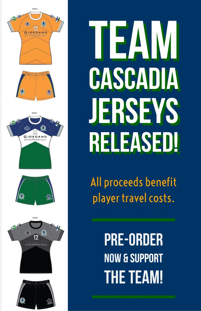 support team Cascadia go to London with our limited run jersey run, CONIFA World Football Cup 2018