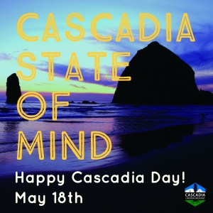 Cannon Beach image promoting Cascadia Day