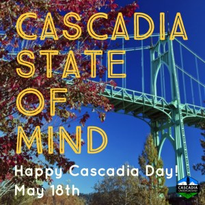 St Johns Bridge image promoting Cascadia Day