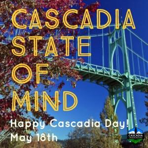 St Johns Bridge image promoting Cascadia Day