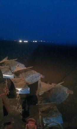 la primavera piovosa del 2013 ci obbligò a lavorare anche di notte per arare terreno asciutto