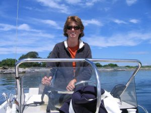 Ann Thayer on boat