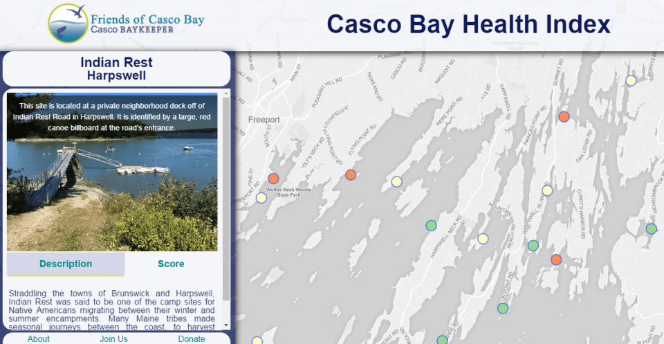 Interactive Casco Bay Health Index