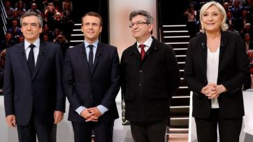 Four frontrunners in the French presidential race